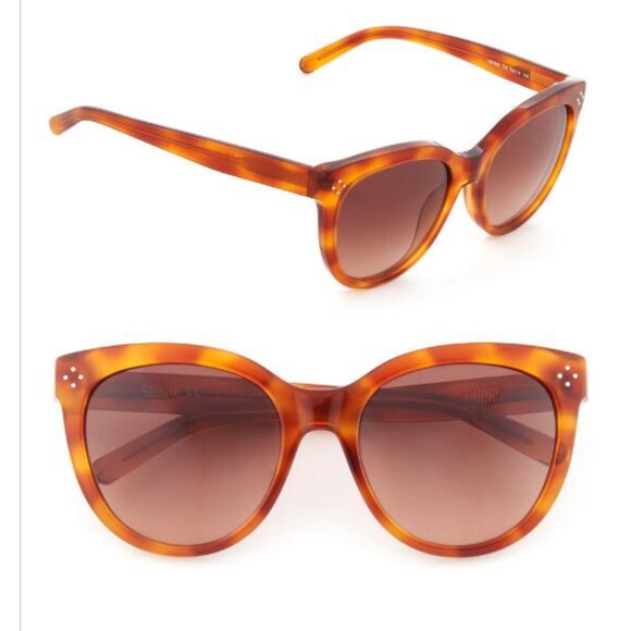 ded1501291b4 Chloe Blonde Havana Cat Eye Sunglasses CE705S